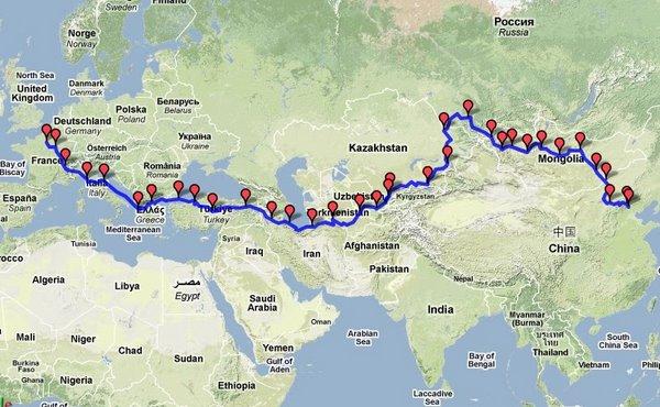 Peking to Paris in a 69 VW Beetle – Simple Paris Map