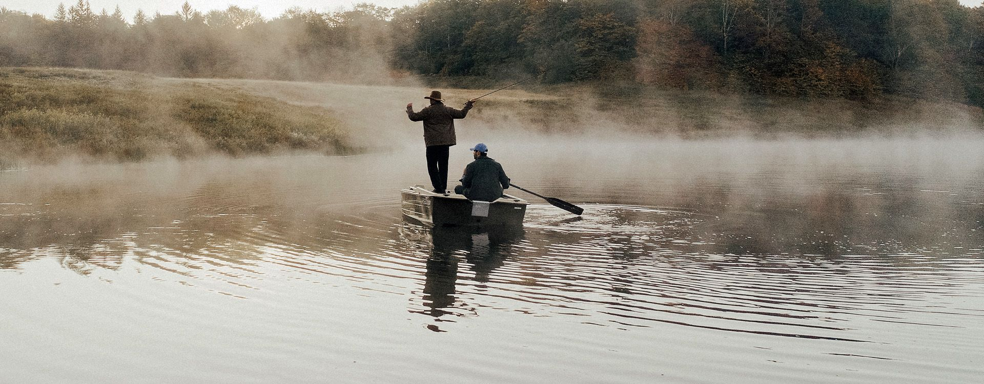 misty flyfishing