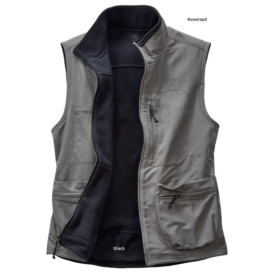 About Reversible Vest Reversible Vests can be found in varied clothing sizes and materials. Sift through a variety of materials including down, polyester, or fleece.