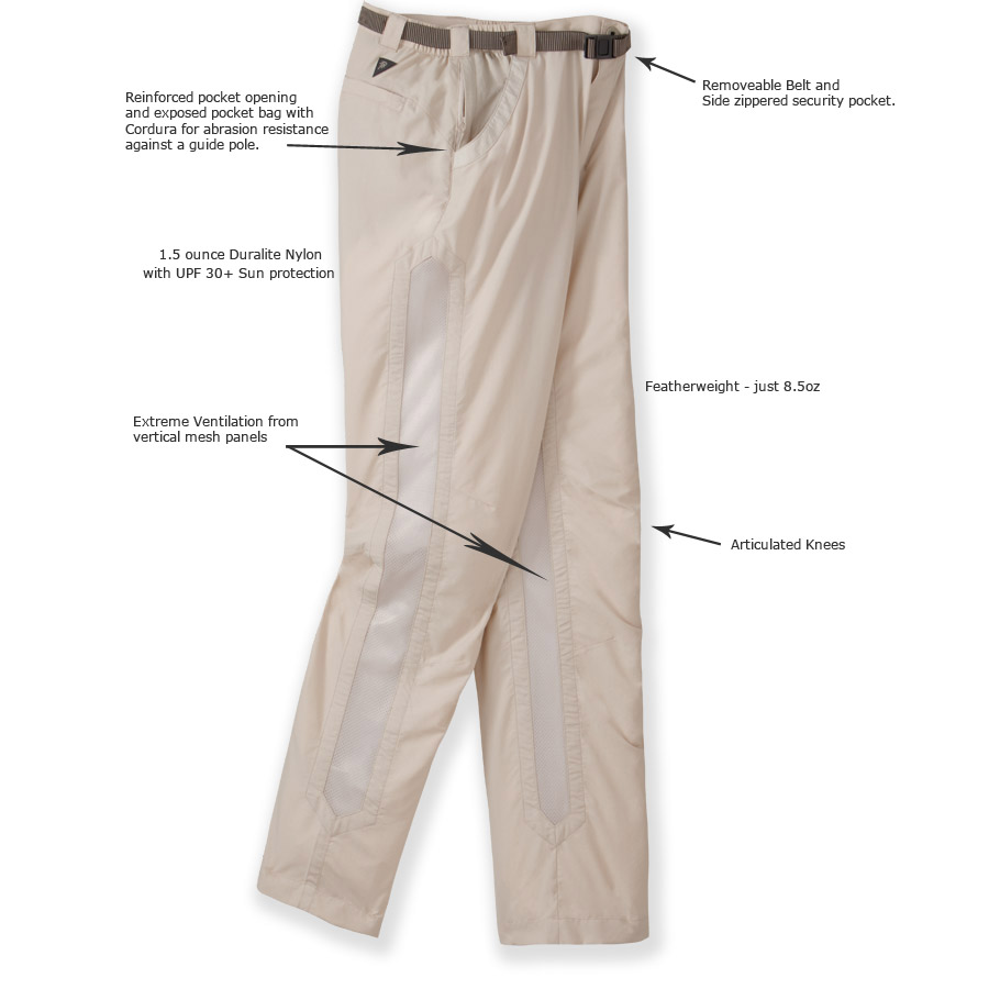 men 39 s lightweight fishing pants ultralight quick dry bone