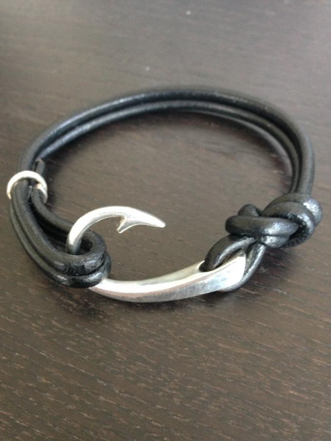 Men S Silver Hook Bracelet
