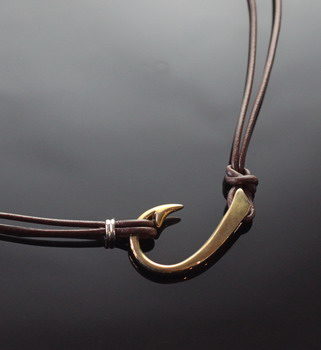 Large Bronze Hook Necklace