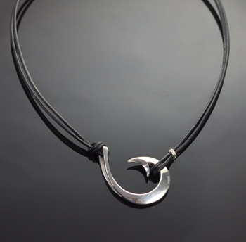 Large Circle Hook Necklace