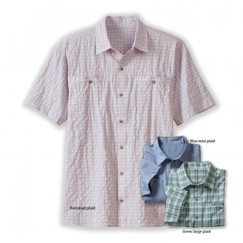 Men's Short Sleeve Wayfarer Plaid Shirt